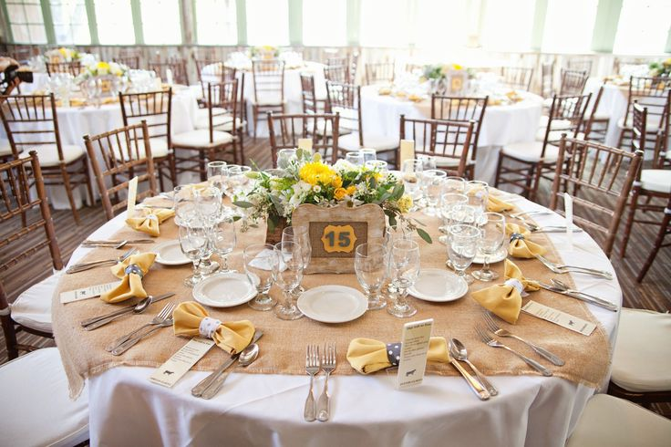 burlap overlay table setting my wedding pinterest. Black Bedroom Furniture Sets. Home Design Ideas