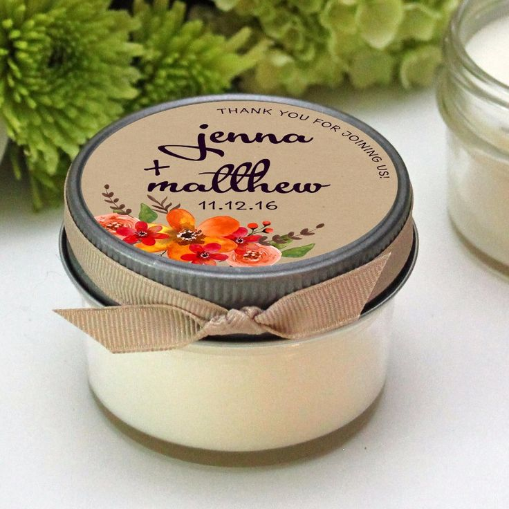 Fall Wedding Favors - Soy Candles by The Favor Design Studio