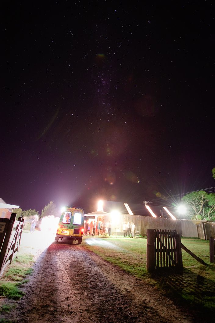 Mr Whippy desert under the stars. It was pretty exciting when everyone heard the jingle of the truck:)
