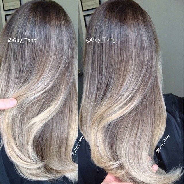 ash blonde balayage ombre by guy tang balayage ombre collection pinterest haar frisur und. Black Bedroom Furniture Sets. Home Design Ideas