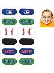 MLB Baseball Eye Black Tattoos 1 Sheet