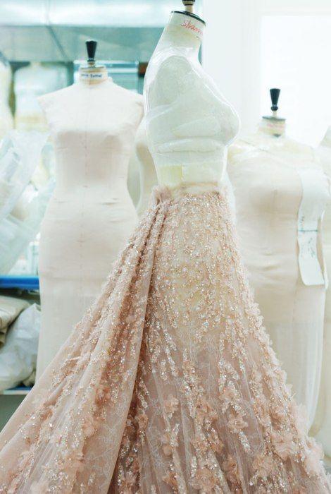 Elie Saab dress in the hand work making.