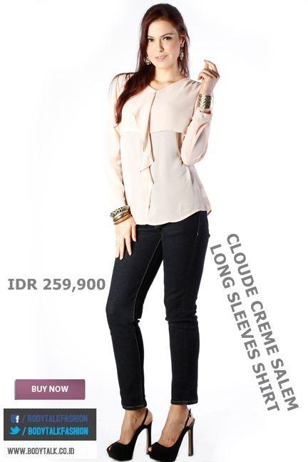 Long Sleeves Shirt tetap jadi pilihan ngantor, cek yang satu ini ladies IDR 259,900 >> http://ow.ly/uVwAx