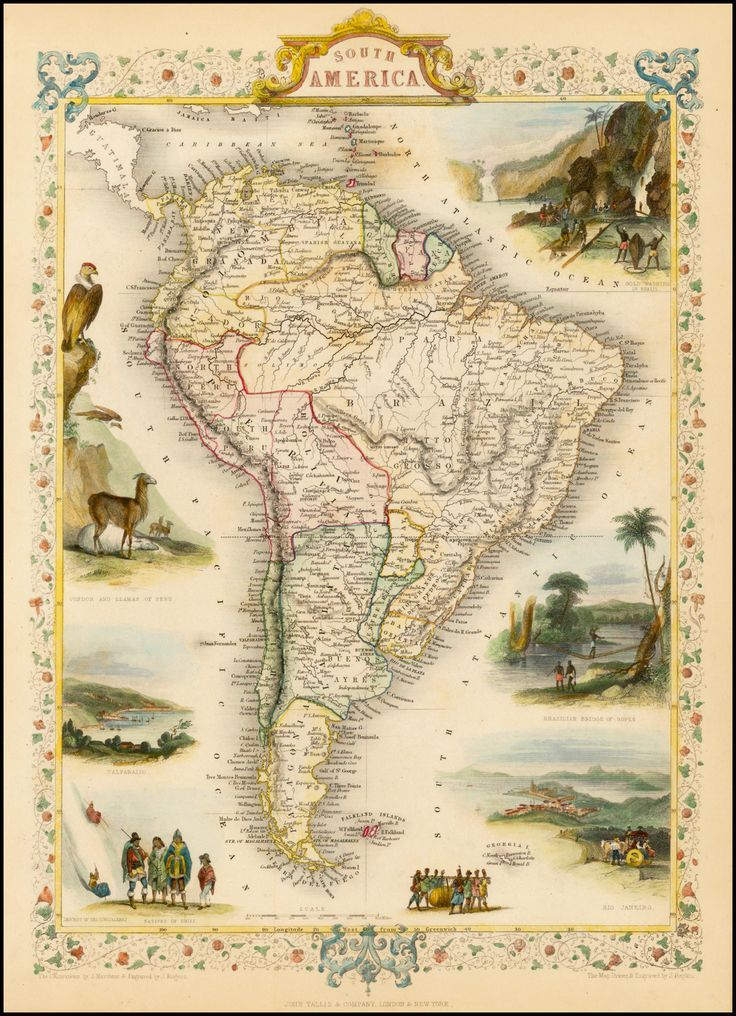 South America, 1851