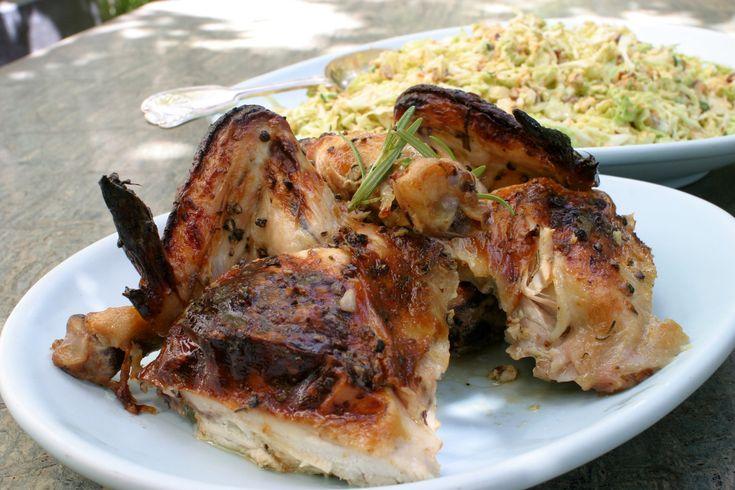 Buttermilk Roast Chicken. Garlic, black peppercorns, sea salt, rosemary, honey. NY Times