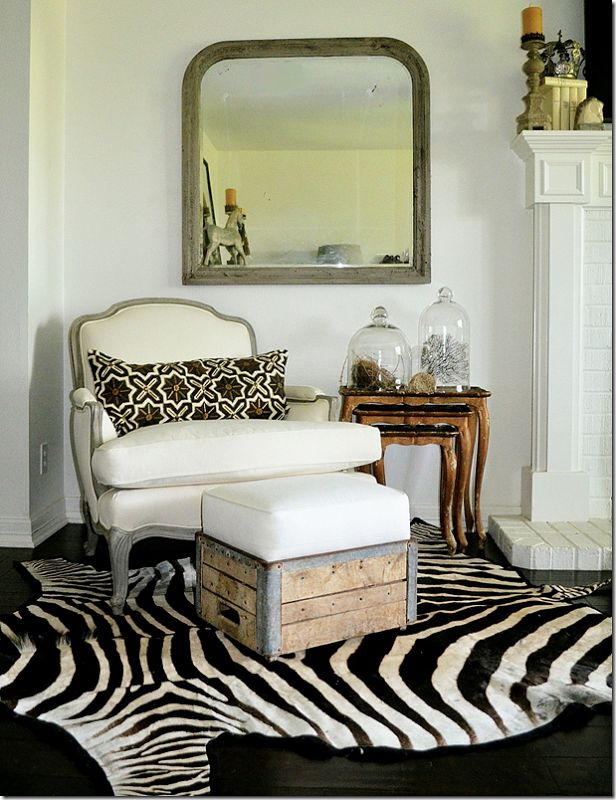 Unique Look Of Old Wooden Crate With Cushion Paired With Formal Chair.
