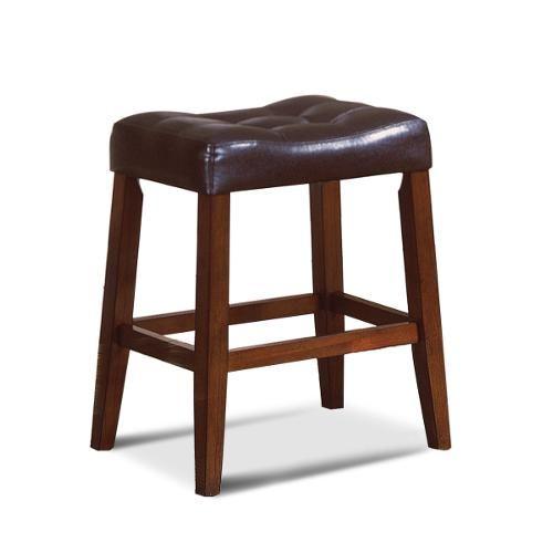 24 Quot Espresso Saddle Counter Stool Dining Room Bar Stools
