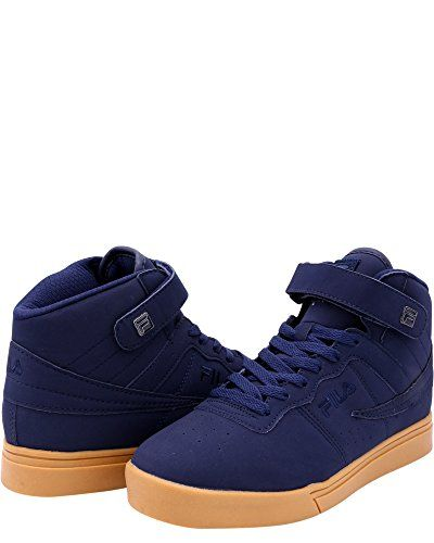 big sale e05a2 f8bd3  56.84 Fila Men s Vulc 13 MP Gum Casual Sneakers, Navy, Faux Leather,  Rubber, 7.5 M