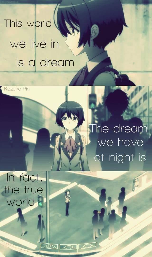 Este mundo em que vivemos é um sonho Os sonhos que temos à noite é De fato do mundo verdadeiro...