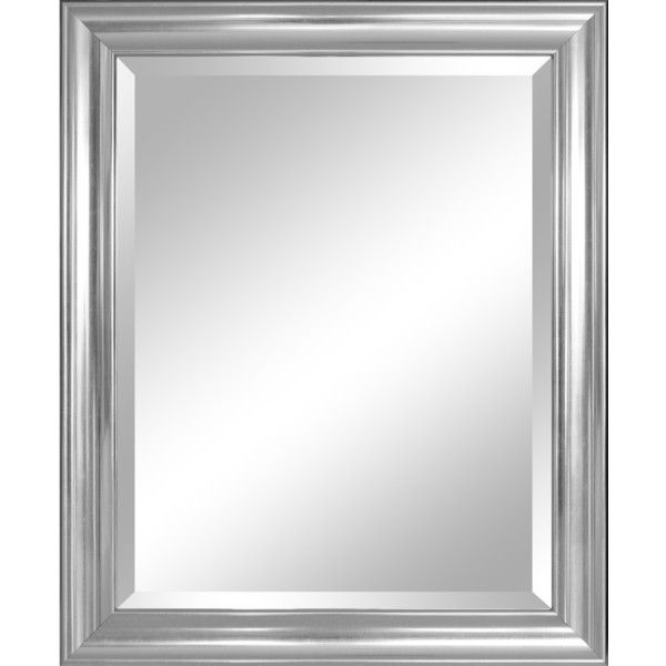 Alpine Concert Beveled Wall Mirror With Silver Frame 28