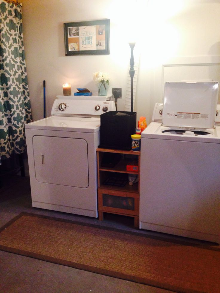 Making the most out of an unfinished basement laundry room