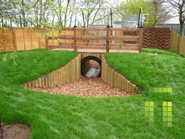 These were at a lot of school playgrounds when we were kids, made with concrete, and I've always wanted to have a series of tunnels to crawl around in if I had the space to do it.