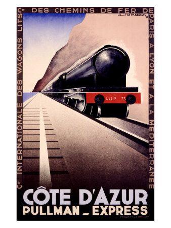Compagnie International des Wagon-Lits, Pullman Express, 1929, by Pierre Fix (Felix) Masseau.