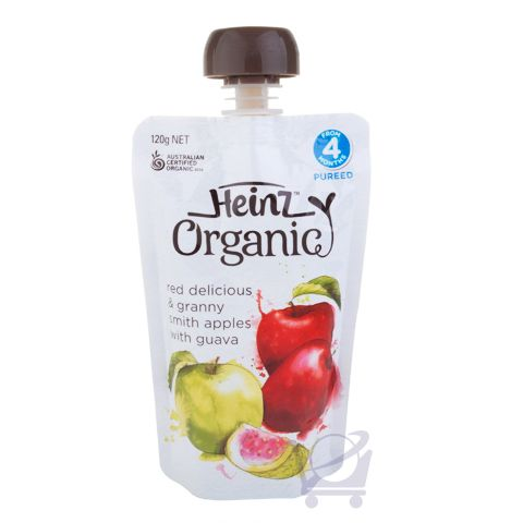 Organic Baby Food, Red & Green Apple, Guava 4 Mths – Heinz, 120g | Shop Australia