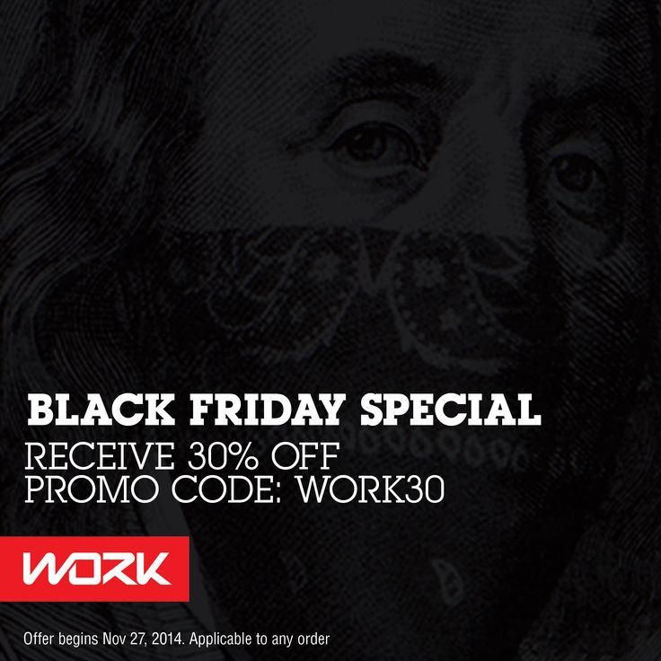 #BLACKFRIDAY sale on now at WORKBRAND.LA  Use promo code WORK30 and receive 30% off any purchase