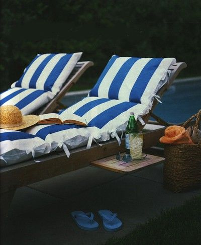 .Lounges Chairs, Poolside Lounger, Favorite Places, Summer Day, Outdoor Living, Outdoor Cushions, Lounge Chairs, Shower Curtains, Good Books