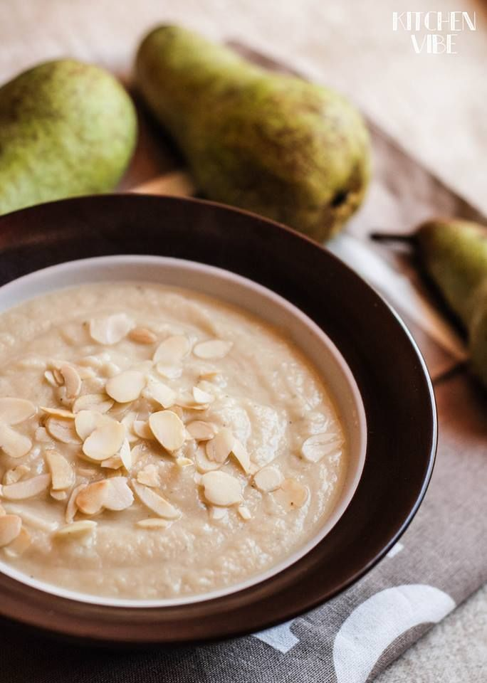 parsley root & pear cream soup