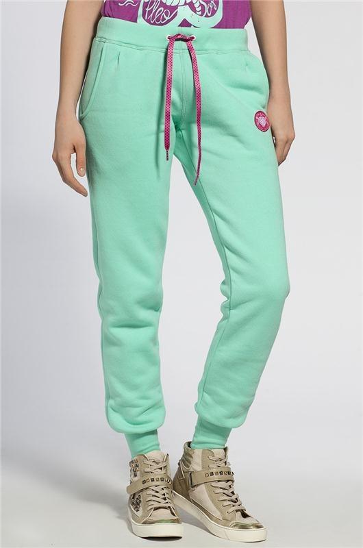 Dresowe spodnie w kolorze mięty