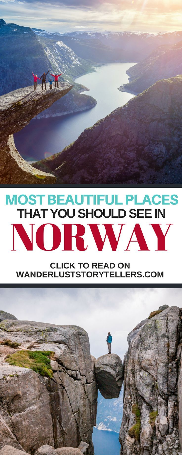 The ultimate guide to the absolute best places to see in Norway! Click to read our post to help you plan your ultimate Norway vacation. Include a few of these places on your #norway Itinerary. | Top Things to do in Norway | Top Things to see in Norway | Beautiful Places Norway | Norway Travel Guide