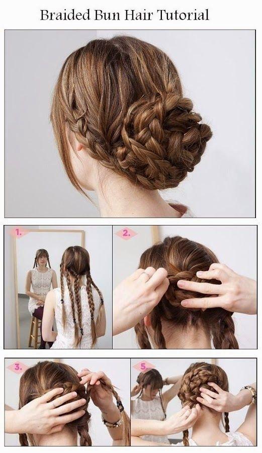 peinado fácil con trenzas