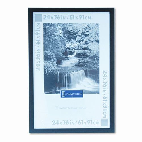 Found it at Wayfair - Black Wood Poster Frame with Plexiglas Window, Wide Profile, 24 x 36