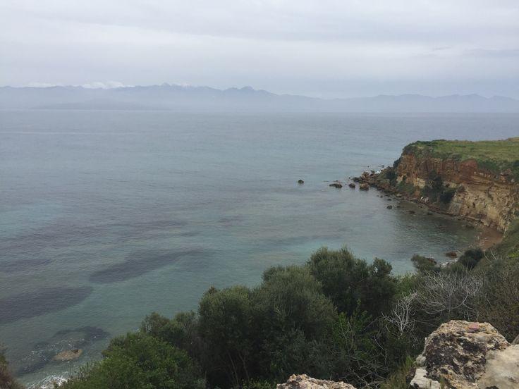Η πίσω όψη από το κάστρο της Κορώνης