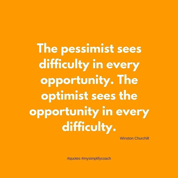 The pessimist sees the difficulty in every opportunity. The optimist sees the opportunity in every difficulty. (Winston Churchill) #quotes #mysimplifycoach