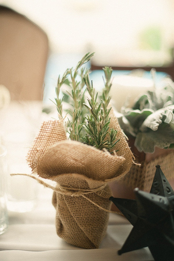 Herb wedding favour