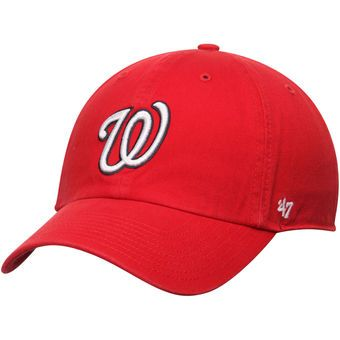 ... low price mens washington nationals 47 brand red basic logo clean up  home adjustable hat 56cea 0df4e604e80f