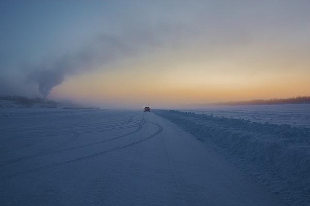 Ice road near Inuvik, NT