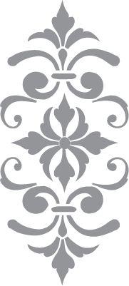 stencil adorno Glass etching stencil of Fleur de Lis. In category: Fleur de Lis