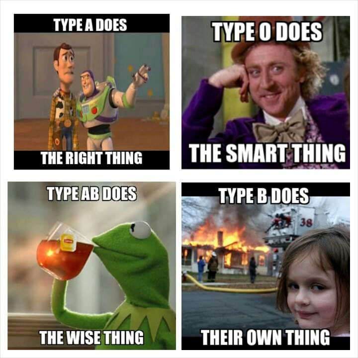 "Blood Type 'Thing"" Meme"