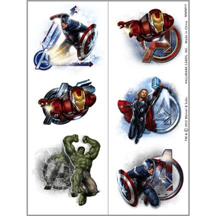 The Avengers Temporary Tattoos!