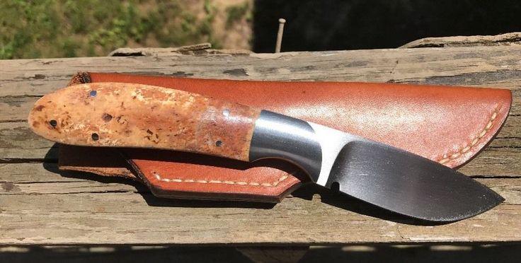 Ron Gaston personalizada hecha a mano de la jirafa del hueso cuchillo de caza de la envoltura de cuero • $ 600,00 - PicClick