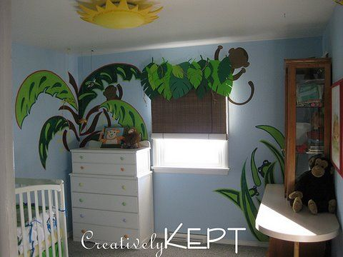 I wish I actually had a nursery for baby D...His theme was going to be a jungle.