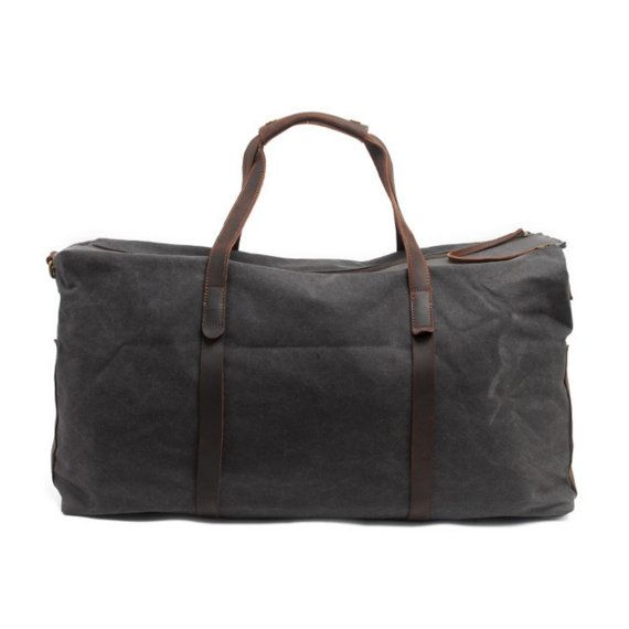 Waxed Canvas Duffle Bag / Weekend Bag / Duffel by TheLeatherGoods