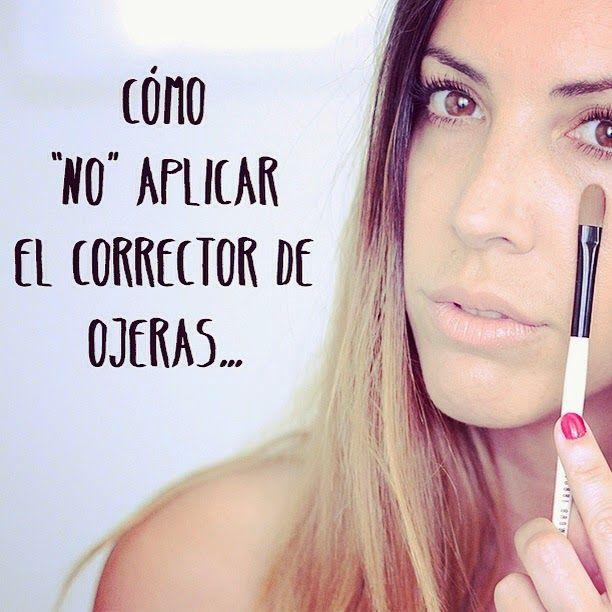 """Aparichi Makeup Artist - Maquilladora Profesional: Blog de Maquillaje: Video: Cómo """"no"""" aplicarse el corrector de ojeras"""