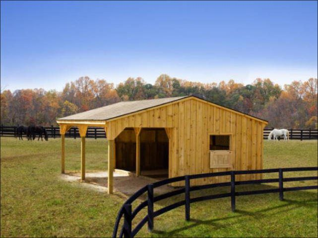 See our Modular - 12 x 24 Run-In Horse Barn w/ 10' Lean-To. For more quality products, visit Penn Dutch Structures today!