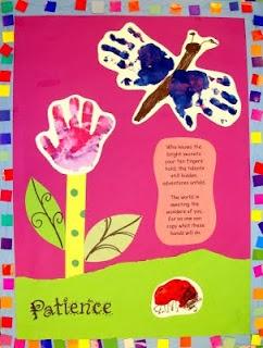 Primavera Com a Impressão das Mãos