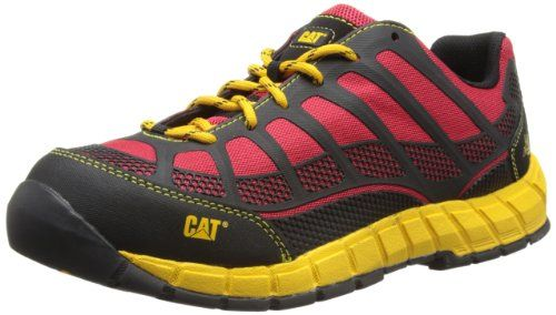 Caterpillar Cat Streamline Ct S1P True Red, Men Ankle Boots, Black (Black), 9 UK (43 EU) Lace Up Safety Work Shoeandlt