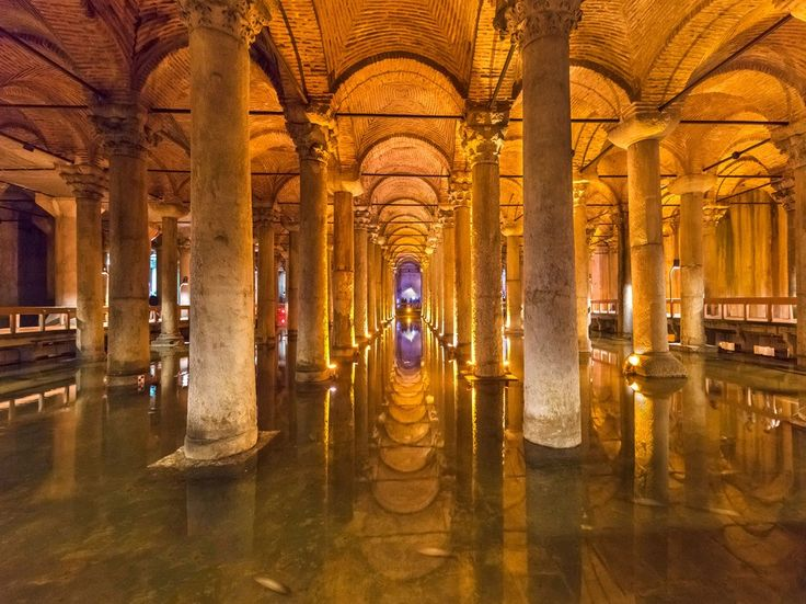 Basilica Cistern - Istanbul, TurkeyJames Bond's second film may seem like a relic of the Cold War Era, but its locations are some of the series' finest. When Bond and Istanbul station head, Ali Kerim Bey, have to make a secret getaway, the two go subterranean, paddle-boating through the Basilica Cistern (i.e. 336 marble columns commissioned by Byzantine emperor Justinian I). Today, visitors are only allowed to tour its perimeter, not float through it (the water level isn't high enough…