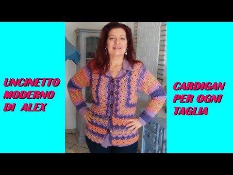 Giacca Cardigan Fenice Ogni Taglia Tutorial Uncinetto Alex Crochet