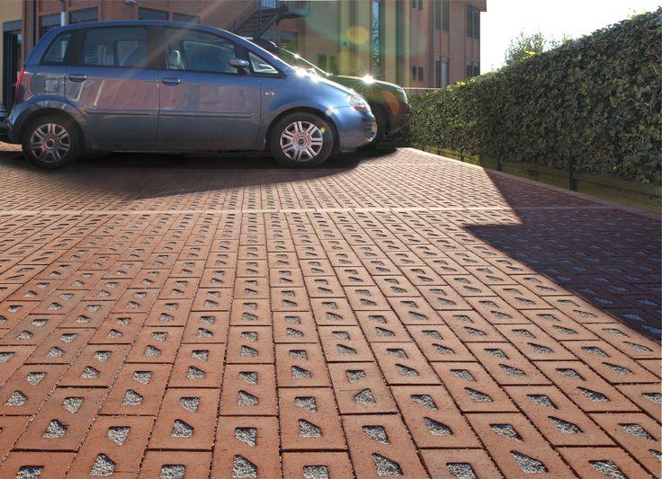CottoBloc Drenante #parcheggio #pavimentazione #permeabile