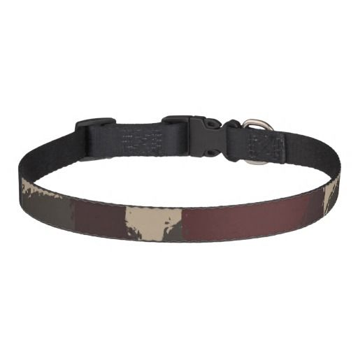 Abstract Military Camouflage Pattern Pet Collar, #fomadesign