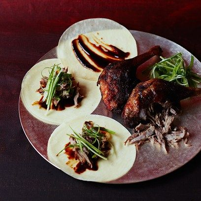 Crispy duck pancakes. A foolproof method of getting deliciously crispy skin and melting duck meat. See Caroline Barty's recipes on HOUSE by House & Garden.