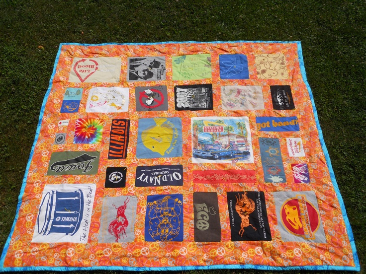 Front of my t-shirt quilt