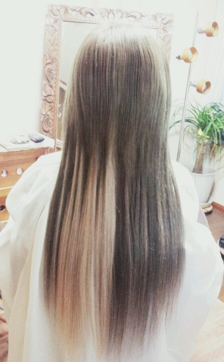 silver ×white  hair color  extensions  ヘアカラー シルバー クリームホワイト エクステ hitomi.y