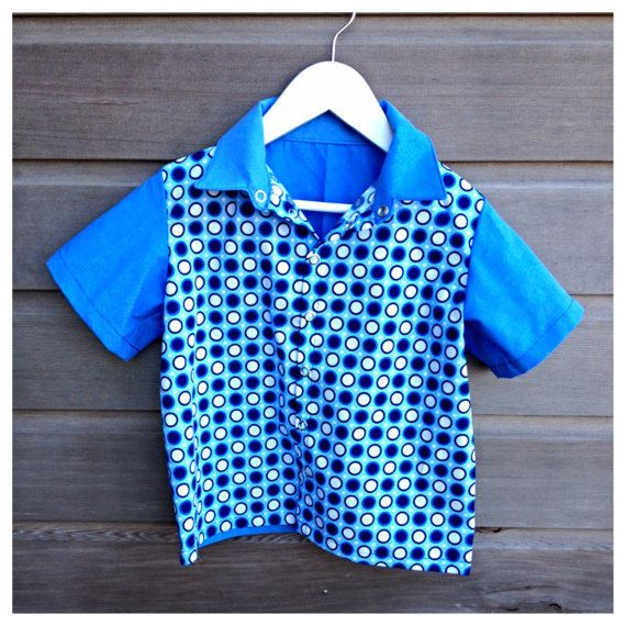 Boys retro bowling shirt / hipster shirt / by LittleFieldBirch, €50.00