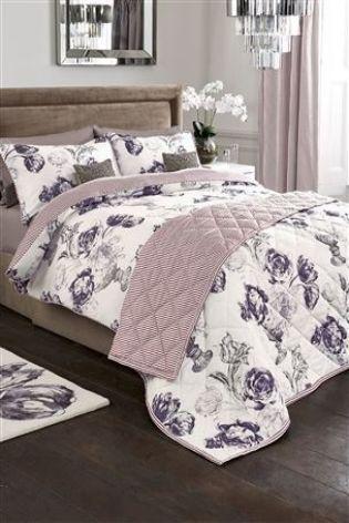Buy Elegant Floral Cotton Sateen Print Bed Set from the Next UK online shop