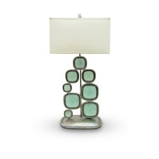 Off Glass Pebblestone L& by Palecek. Recycled glass is formed into retro squares and enclosed in pewter finished hammered metal. from l& base to plug ...  sc 1 st  Pinterest & 30 best PALECEK Lighting images on Pinterest | Drum shade Drums ... azcodes.com